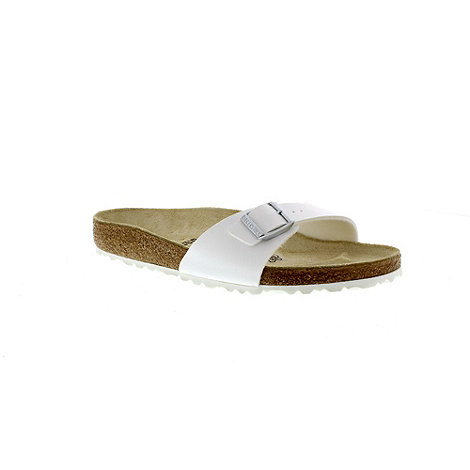 Birkenstock - White +Madrid+ single strap sandal