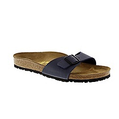 Birkenstock - Blue fabric 'Madrid' ladies single strap sandals