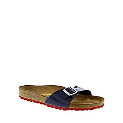 Birkenstock - Blue/red 'Madrid' ladies single strap sandal