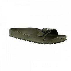 Birkenstock - Khaki 'Madrid EVA' single strap sandals