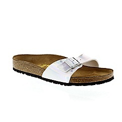Birkenstock - Mirror silver 'Madrid' ladies sandals
