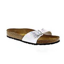 Birkenstock - Mirror silver 'Madrid' ladies sandals