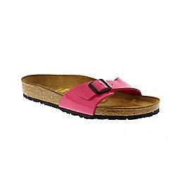 Birkenstock - Pink patent 'Madrid' ladies single strap sandal