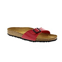 Birkenstock - Red patent 'Madrid' ladies single strap sandals
