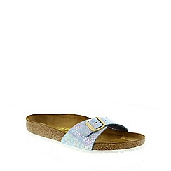 Birkenstock - Blue Shiny Snake Sky Madrid ladies sandal