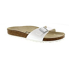 Birkenstock - White 'Madrid' single strap flip flops
