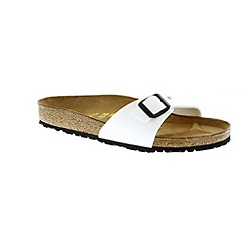 Birkenstock - White patent 'Madrid' ladies single strap sandals