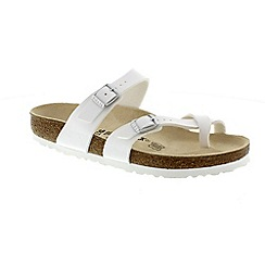 Birkenstock - White 'Mayari' ladies two strap sandals