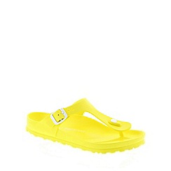 Birkenstock - Yellow Birkenstock Neon Yellow 'Gizeh EVA' Women's Sandals