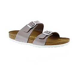 Birkenstock - Brown pearly hazel 'Sydney' women's sandal