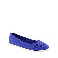 Blowfish - Blue Blowfish Cobalt 'Glo' Women's Slip On Canvas Shoes
