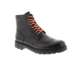 Camper - Black hardwood mens boots