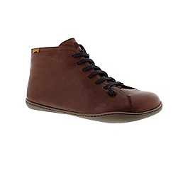 Camper - Brown 'Peu' mens casual lace up boot