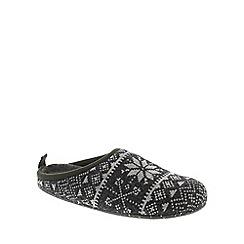 Camper - Grey 'Fair Isle Wabi' womens slippers