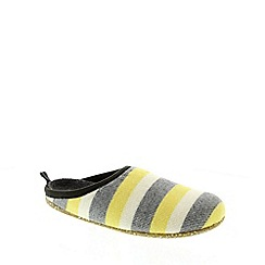 Camper - Yellow and Grey Stripes 'Wabi' womens slippers