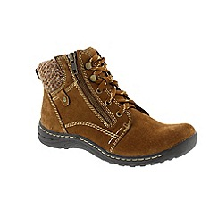 Earth Spirit - Brown 'Carob Denver' ladies boots