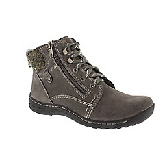 Earth Spirit - Grey 'Denver' ankle boots