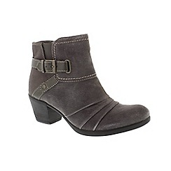 Earth Spirit - Grey suede 'Butte' ankle boots