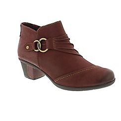 Earth Spirit - Dark mauve 'Tampa' ankle boots
