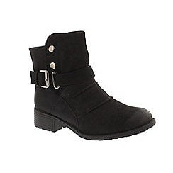 Earth Spirit - Black leather 'Clarksville' ankle boots