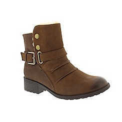 Earth Spirit - Brown leather 'Clarksville' ankle boots