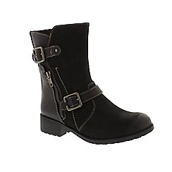 Earth Spirit - Black leather 'Dayton' biker boots
