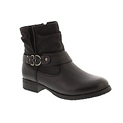Earth Spirit - Black leather 'Hayfield' biker boots
