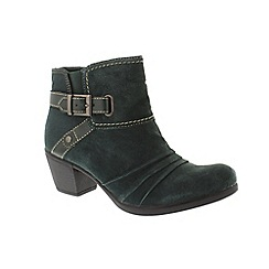 Earth Spirit - Green suede 'Butte' ankle boots