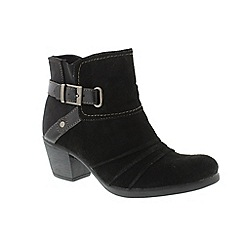 Earth Spirit - Black 'Butte' ankle boots