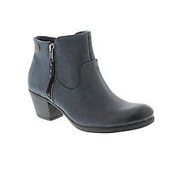 Earth Spirit - Navy leather 'Montgomery' ankle boots