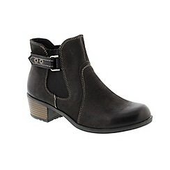 Earth Spirit - Black leather 'EL Reno' ankle boots