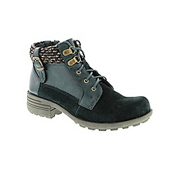Earth Spirit - Green leather 'Mobile' ankle boots