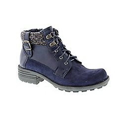 Earth Spirit - Navy 'Mobile' ankle boots