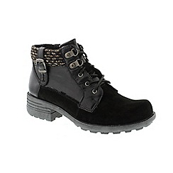 Earth Spirit - Black 'Mobile' ankle boots
