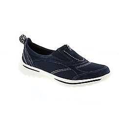 Earth Spirit - Navy textile 'Guam' shoes