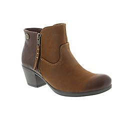 Earth Spirit - Brown leather 'Montgomery' ankle boots