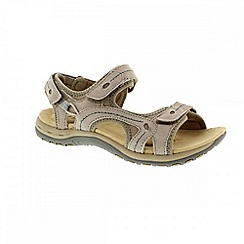 Earth Spirit - Khaki 'Arlington 2' ladies three strap sandal