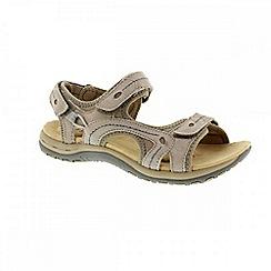 Earth Spirit - Khaki 'Arlington 2' ladies three strap sandal