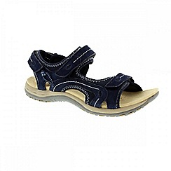 Earth Spirit - Blue navy 'Arlington 2' ladies three strap sandal