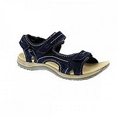 Earth Spirit - Blue navy 'Arlington 2' ladies three strap sandal