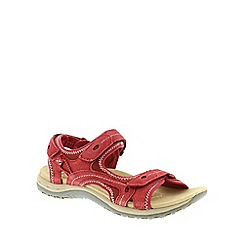 Earth Spirit - Red 'Arlington 2' ladies three strap sandal