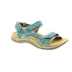 Earth Spirit - Blue teal 'Arlington 2' ladies three strap sandal