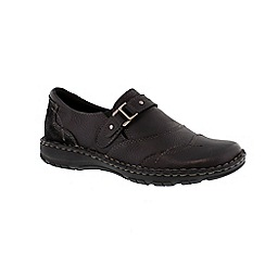 Earth Spirit - Black 'Austin' ladies shoe with buckle detail