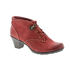 Earth Spirit - Red 'Brownsville' ladies boot