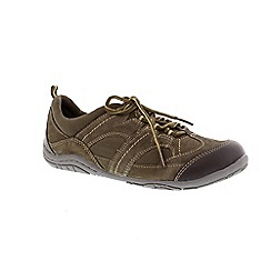Earth Spirit - Dusty olive 'Buffalo' casual lace up shoe