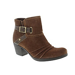 Earth Spirit - Brown Bark 'Butte' ladies ankle boots
