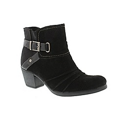 Earth Spirit - Black Black 'Butte' ladies ankle boots