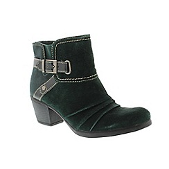 Earth Spirit - Green Deep Pine 'Butte' ladies ankle boots