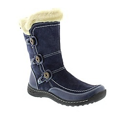 Earth Spirit - Navy 'Caribou' ladies boots