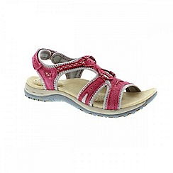 Earth Spirit - Red 'Carolina' ladies sandals